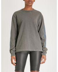 Yeezy - Gray Season 6 Calabasas-print Cotton-jersey Sweatshirt - Lyst