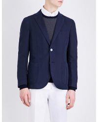 Slowear | Blue Single-breasted Linen And Cotton-blend Blazer for Men | Lyst