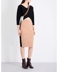 Diane von Furstenberg | Black V-neck Cashmere Faux-wrap | Lyst