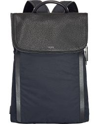 Tumi   Blue Evans Flap Backpack for Men   Lyst