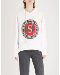 Sandro - Multicolor Crest-print Cotton-blend Hoody - Lyst