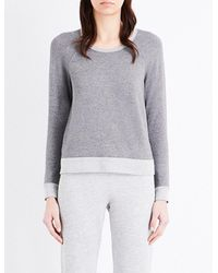 Sundry | Gray Contrast-trims Stretch Sweatshirt | Lyst