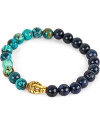 Nialaya - Blue Budda Head Necklace for Men - Lyst