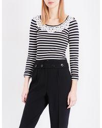 Claudie Pierlot - Black Mariniere Striped Knitted Jumper - Lyst