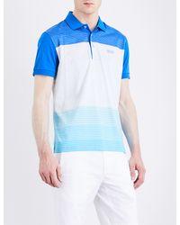 BOSS - White Hugo Boss Regular-fit Striped Jersey Polo Shirt for Men - Lyst