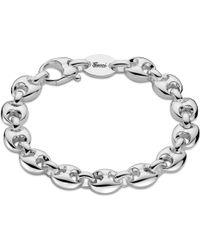 Gucci - Metallic Marina Chain Small Sterling Silver Bracelet - Lyst