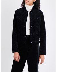 J Brand - Black Faye Velvet Jacket - Lyst