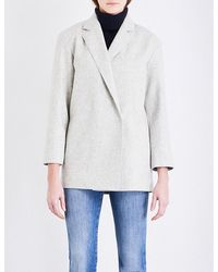 French Connection | Gray Platform Oversized Wool-blend Coat | Lyst