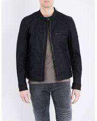Belstaff - Black Beckford Coated Cotton Jacket for Men - Lyst