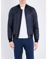 Belstaff | Blue Stonefield Quilted Shell Bomber Jacket for Men | Lyst