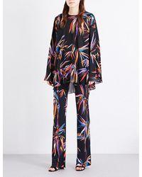 Emilio Pucci | Blue Bamboo-print Silk-chiffon Kaftan | Lyst