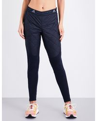 Adidas By Stella McCartney - Blue Moto Stretch-jersey Jogging Bottoms - Lyst