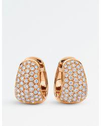 BUCHERER JEWELLERY - Pink Classics 18ct Rose-gold Diamond Earrings - Lyst