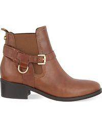 Carvela Kurt Geiger - Black Saddle Leather Ankle Boots - Lyst