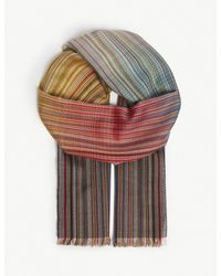 Paul Smith - Multicolor Striped Gradient Wool And Silk Scarf for Men - Lyst