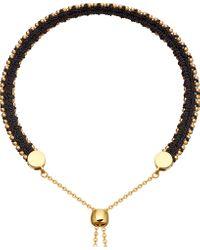Astley Clarke - Black Kula Biography 18ct Yellow-gold Vermeil Midnight Bracelet - Lyst
