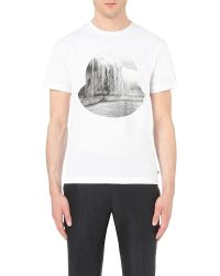 Moncler | White Glacier Graphic Cotton-jersey T-shirt for Men | Lyst