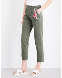 Claudie Pierlot | Green Parker Skinny High-rise Jeans | Lyst