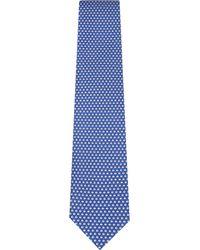 Ferragamo - Blue Coffee Bean Silk Tie for Men - Lyst