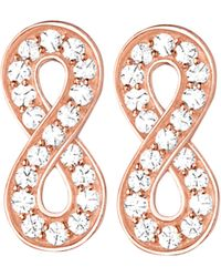 Thomas Sabo - Metallic Glam & Soul Infinity 18ct Rose Gold-plated And Zirconia Earrings - Lyst