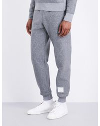 Thom Browne | Gray Quilted Double-faced Jacquard Jogging Bottoms for Men | Lyst