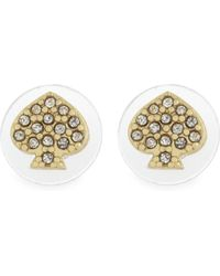 Kate Spade - Metallic Crystal Stud Earrings - Lyst
