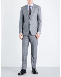Richard James - Gray Prince Of Wales Check Regular-fit Wool Suit for Men - Lyst