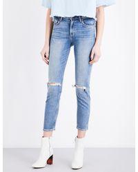 GRLFRND - Ladies Light Blue Iconic Skinny High-rise Jeans - Lyst