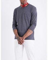 Richard James - Gray Long-sleeved Cotton-jersey T-shirt for Men - Lyst