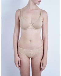 5a2de103faa1b Lyst - Chantelle Merci Jersey And Lace Maternity Bra in Natural