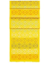 Loewe - Yellow Anagram Line Scarf - Lyst