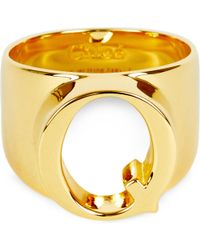 Chloé - Metallic Alphabet Q Ring - Lyst
