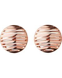 Links of London - Metallic Thames 18ct Rose Gold Vermeil Earrings - Lyst