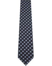Ermenegildo Zegna | Blue Mixed Medallion Silk Tie for Men | Lyst