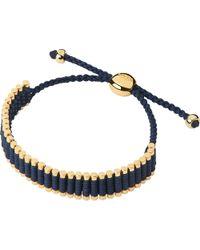 Links of London - Blue Yellow-gold Friendship Bracelet - Lyst