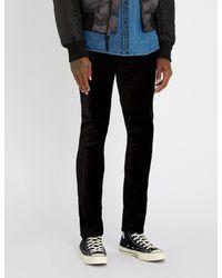 PAIGE - Black Lennox Skinny-fit Velvet Jeans for Men - Lyst