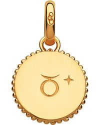 Links of London - Taurus 18ct Yellow-gold Vermeil Zodiac Charm - Lyst