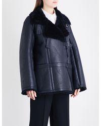 Jil Sander - Blue Dushambe Oversized Shearling Coat - Lyst
