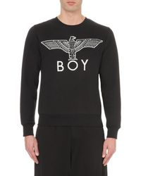 BOY London - Black Eagle Logo Cotton-jersey Sweatshirt for Men - Lyst