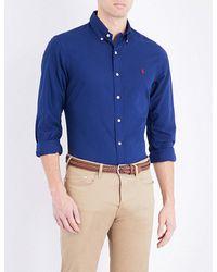 Polo Ralph Lauren | Blue Slim-fit Cotton Sport Shirt for Men | Lyst