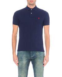 Polo Ralph Lauren | Blue Slim–fit Mesh Polo Shirt for Men | Lyst