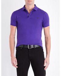 Polo Ralph Lauren | Purple Slim-fit Cotton-piqué Polo Shirt for Men | Lyst