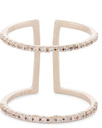 Astrid & Miyu | Metallic Double Bewitched Rose Gold Ring | Lyst