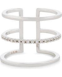 Astrid & Miyu - Multicolor Triple Bewitched Rhodium Ring - Lyst