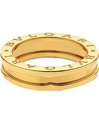 BVLGARI - Metallic B.zero1 One-band 18ct Yellow-gold Ring - Lyst