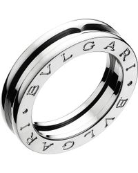 BVLGARI | Metallic B.zero1 One-band 18ct White-gold Ring | Lyst