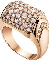 BVLGARI   Mvsa 18kt Pink-gold And Diamond Ring   Lyst