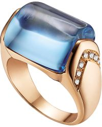 BVLGARI | Blue Mvsa 18kt Pink-gold And Diamond Ring | Lyst