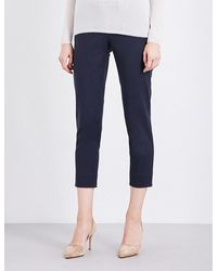 'S Max Mara | Blue Anta Tapered Stretch-cotton Trousers | Lyst