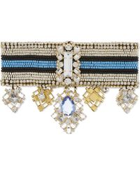 Wales Bonner | Blue Oryema Beaded Choker | Lyst